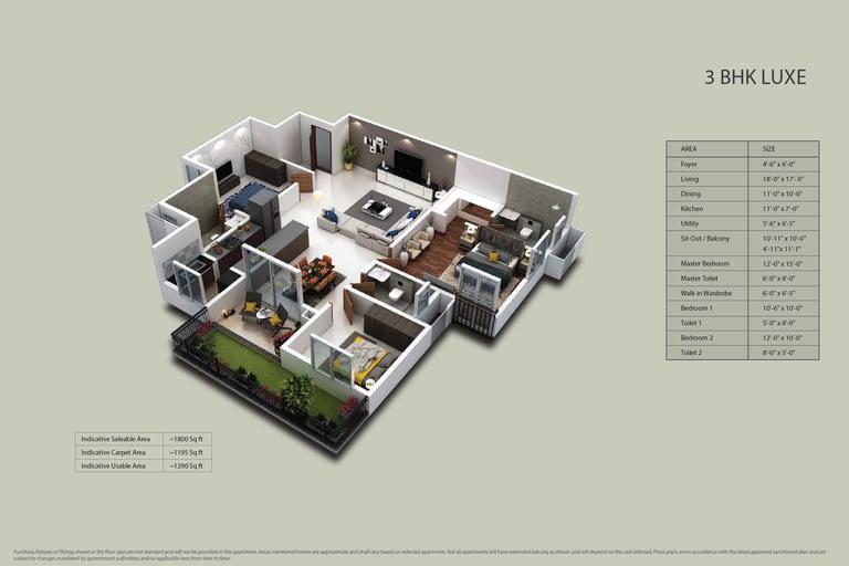 Purva Zenium Floor plans 5