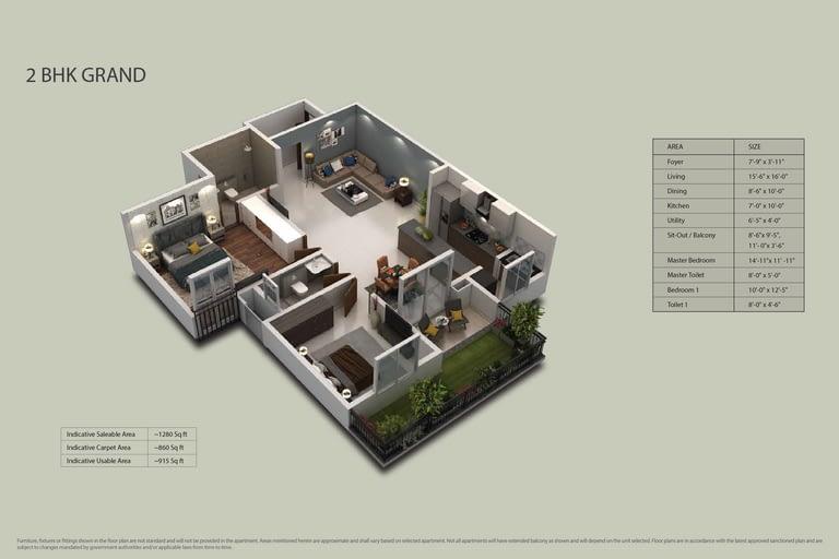 Purva Zenium Floor plans2