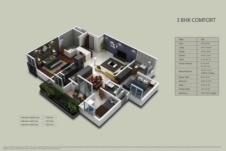 Purva Zenium Floor plans 3
