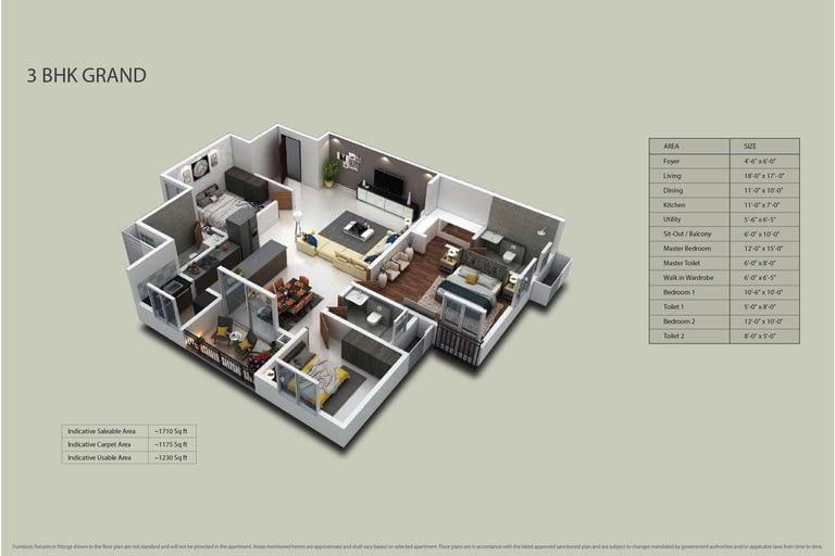 Purva Zenium Floor plans 4