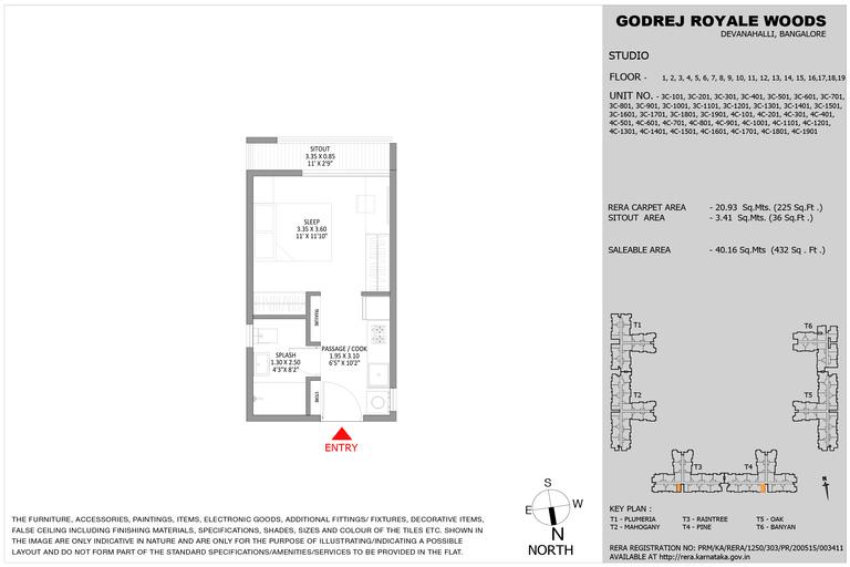 floor plans Godrej Royale Woods
