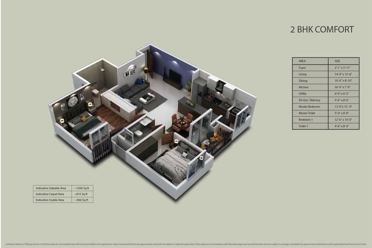 Purva Zenium Floor plans1